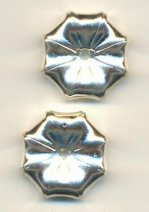25mm Silver MP Flower Beads