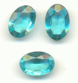 10x7mm Transparent TTC Aqua Oval RS