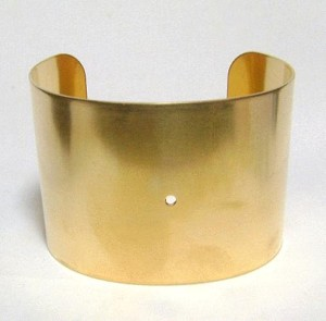 2'' Brass Cuff with Center Hole