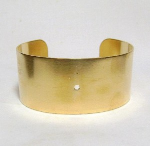 1 1/8'' Brass Cuff with Center Hole