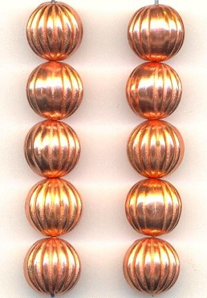 12mm Copper Plated Metalized Beads