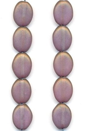 11.5x9mm Amethyst/Bronze Luster Beads