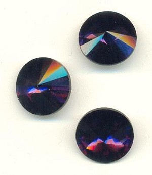 16mm Amethyst/Purple Rivoli Rhinestone