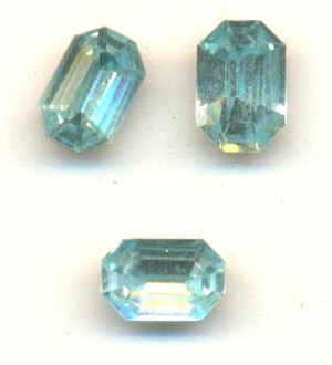 6x4mm MC Lt. Aquamarine Octagon RS
