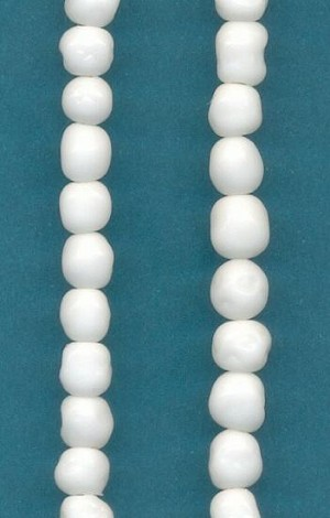 6mm White Baroque Glass Beads