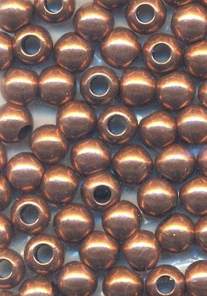 5mm Antique Copper Spacer Beads - BULK