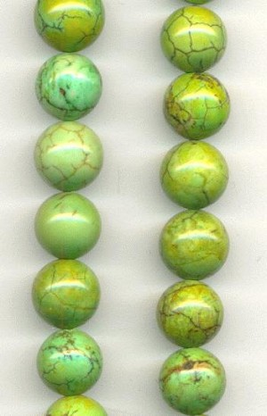 10mm Green Lace Agate Beads