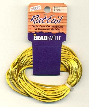 2mm Rattail Cord - Antique Gold