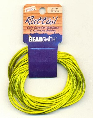 2mm Rattail Cord - Avocado