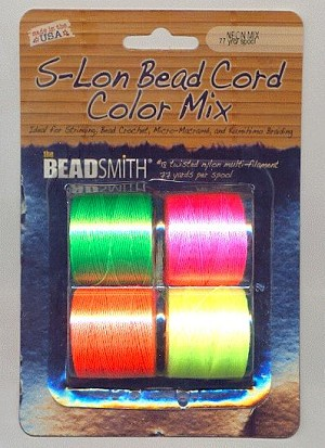 S-Lon Bead Cord Color Mix - Neon