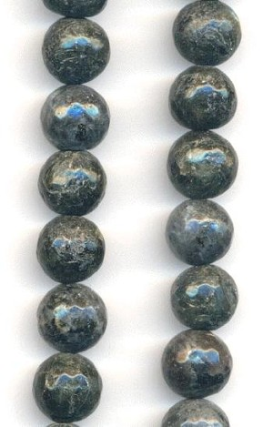 10mm Dark Grey Natural Stone Beads