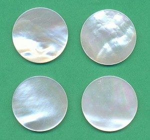 25mm Mother-of-Pearl Disk Stones