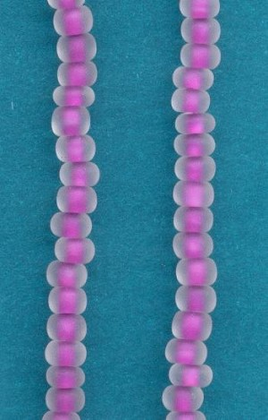 06/0 Purple/Frosted Rochelle Bead