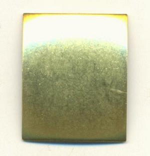 27x22mm Brass Dapped Rectangle Blanks