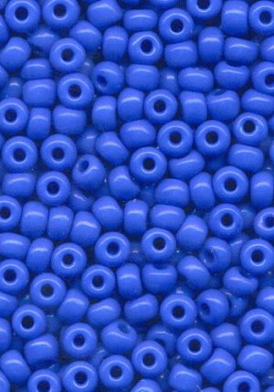 06/0 Opaque Blue Seed Beads