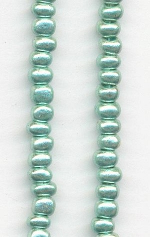 06/0 Green Pastel Seed Beads