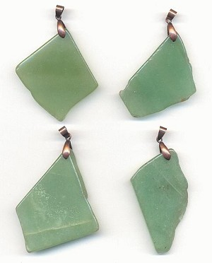 Aventurine Pendants w/ Copper Bail