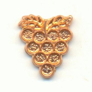 10x8mm Brass Cast Grape Stampings
