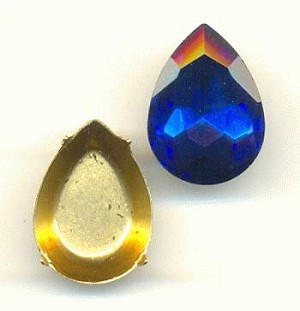 18x13mm Chinese Cobalt Pear/Setting