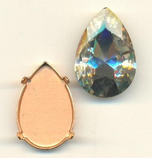 30x20mm Chinese Crystal Pear/Setting