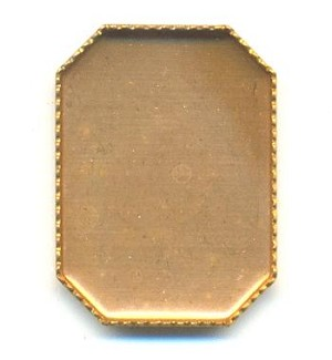 18x13mm Brass Octagon Flat Back Setting