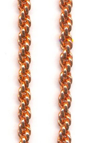 00a9c4e8083 3mm Copper French Rope Chain | Jan's Jewelry Supplies