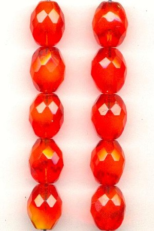 11mm Fancy Hyacinth Faceted Beads