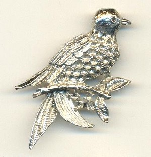 49.02x37.9mm SP Bird Brooches w/Settings