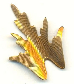 41.6/31.2mm Brass Dapped Leaf Stampings