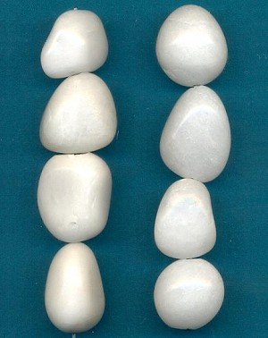 18.9x14.4mm White Quartz Nuggets