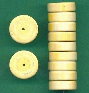 18x6mm Yellow Acrylic Disc Beads