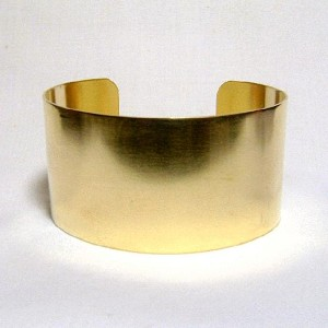 1 1/2'' Plain Brass Cuff - LARGE
