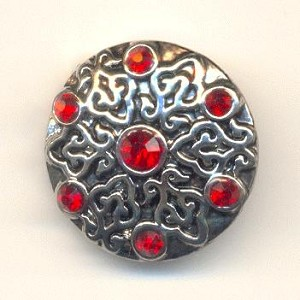 20mm AS Siam Ruby Rhinestone Snap