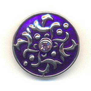 20mm Purple Enamel Rhinestone Snap