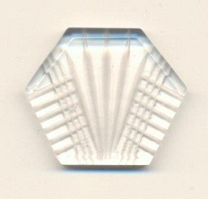 26.7x31.4mm Clear Reverse Carved Hexagon
