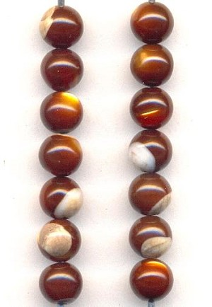 5mm Red/Brown Shell Beads