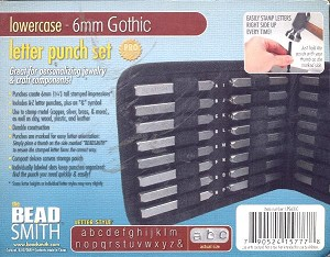 6mm Gothic Lower Case Letter Punch Set