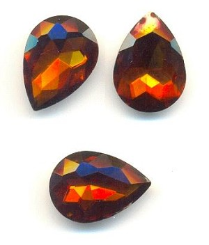 14x10mm DK Coffee/Madeira Topaz Pear RS