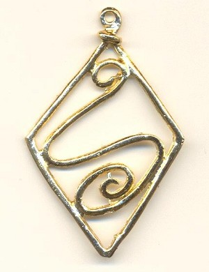 2 3/4'' Gold Plated Pendant 1R