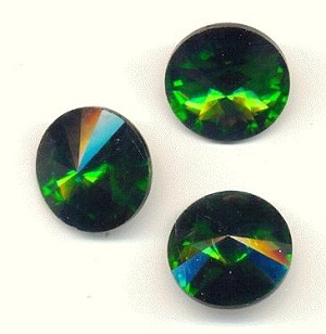 18mm Grass Green Rivoli Rhinestone