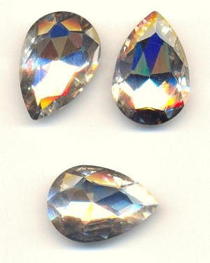 30x20mm Clear/Crystal Pear Rhinestone