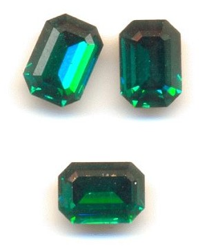 7x5mm Swarovski Emerald Octagon RS