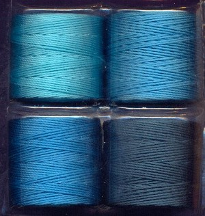 S-Lon Bead Cord Color Mix - Marine