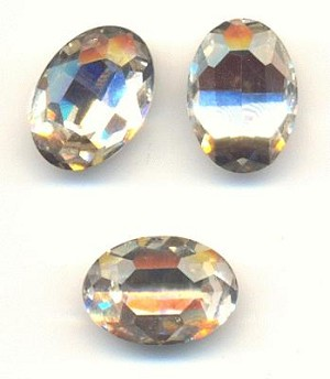 14x10mm Crystal Clear Oval Rhinestone