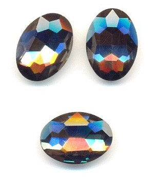 18x13mm Black Diamond Oval RS