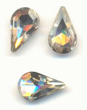 13x7.8mm Crystal Pear Rhinestone