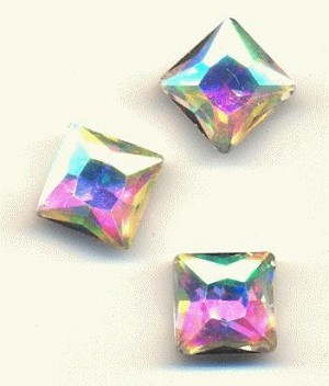 10mm Crystal AB Square