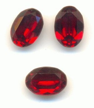 7x5mm Swarovski Siam Ruby Oval RS
