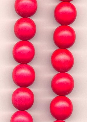 20mm Bright Red Wooden Beads