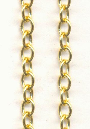4x3mm Gold Plated Cable Chain